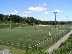 One of the synthetic turf fields at Maple Grange Community Park