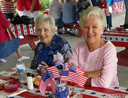 Enjoying the senior picnic in July 2015